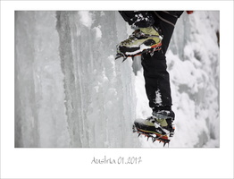 Ice climbing in Austria 01.2017